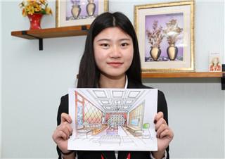 手绘建筑效果图,新华学子的专业素质